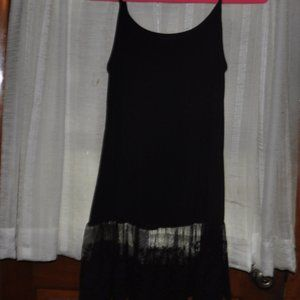 Camisole with lace pleated hem
